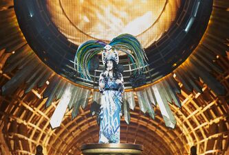 Cher performs at the MTS Centre in full costumed splendor Friday night.