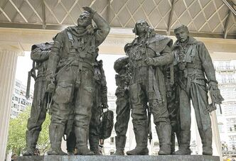 The Bomber Command memorial statue.
