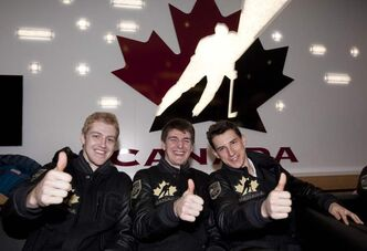 Defenceman Dougie Hamilton, Winnipeg Jets draft pick Mark Scheifele, a centre converted to right wing, and forward Ryan Strome (from left) will be key to Canada's success in Russia.