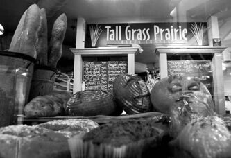 The Tall Grass Prairie Bread Company at the Forks owned by Paul and Tabitha Langel. The bakery buys grain directly from farmers and mills it on location to ensure freshness and to support local farmers.