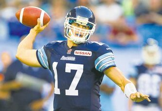 Toronto Argonauts quarterback Zach Collaros impressed in his first pro start against the B.C. Lions on Tuesday, throwing for 253 yards on 21-of-25 passing.