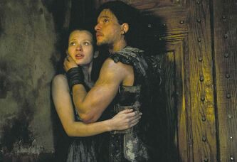 Kit Harington and Emily Browning in a scene from Pompeii. (Caitlin Cronenberg / TriStar Pictures / MCT)