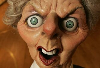 A Spitting Image puppet of former British prime minister, the late Margaret Thatcher. Spitting Image was a satirical puppet show televised in Britain in the 1980's and 1990's.