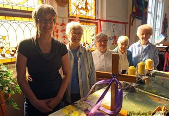 From left: Marymound spiritual care co-ordinator Pam Vialoux with Sisters Barbara Wells, Florence McCadden, Brigid Hussey and Lorraine Perreault.