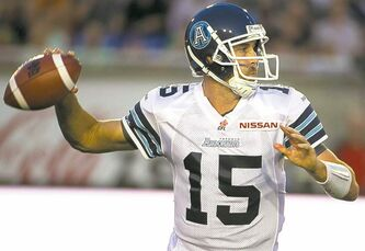 Ricky Ray's completions are a CFL-best 76.4 per cent.