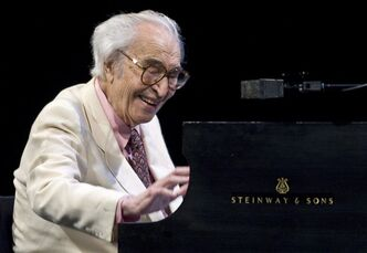 Jazz legend Dave Brubeck performs at the 30th edition of the Montreal International Jazz Festival in Montreal on July 4, 2009. Jazz composer and pianist Dave Brubeck, whose pioneering style in pieces such as