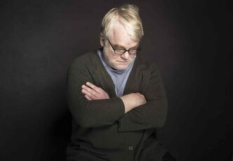 Philip Seymour Hoffman poses for a photo during the Sundance Film Festival in Park City, Utah, on Jan. 19.
