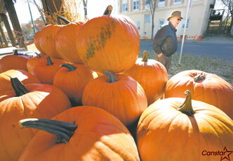 Maggie's Pumpkin Patch will be set up in the parking lot of Kildonan Place this weekend.