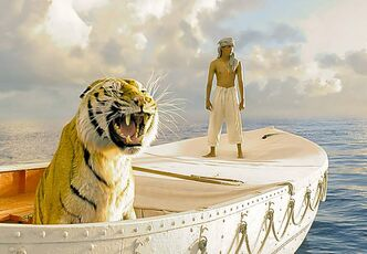 Suraj Sharma in a scene from Life of Pi, which debuts at the New York Film Festival on Sept. 28.