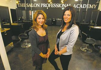 Jen Santoro (left) and Lindsey Kellett. Kellett and her business partners are pleased with the progress.