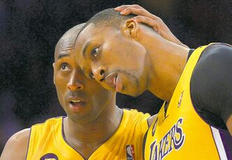 Kobe Bryant (left) and Dwight Howard are no longer friends (were they ever?) after Howard signed with the Houston Rockets.