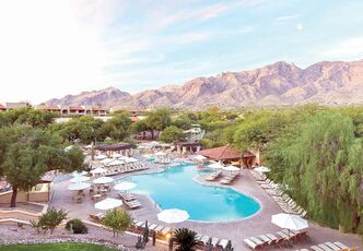 Stunning sunsets and mountain views at the Westin La Paloma Resort and Spa.