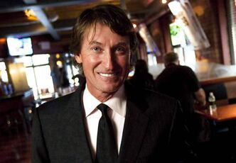 Hockey great Wayne Gretzky Will drop the puck in a ceremonial faceoff for the L.A. Kings-New Jersey Devils game Monday night.
