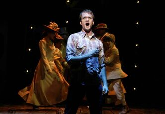 "Neil Patrick Harris in a 2004 production of the Stephen Sondheim-John Weidman musical revival of ""Assassins.""'"