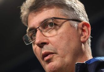 Winnipeg Jets head coach Claude Noel answers questions from the media during a break in the Winnipeg Jets training camp at the MTS Centre Wednesday.