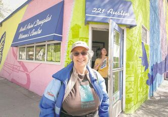 Elaine Bishop outside the North Point Douglas Women's Centre
