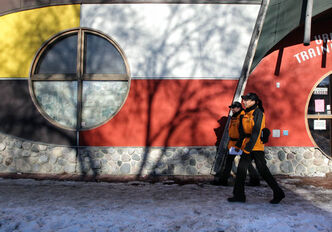 The North End Community Renewal Corporation has a crew of community ambassadors that patrol the neighbourhood as a peace-keeping method. Chris Harper and Jennifer Sanderson patrol along Selkirk Avenue.