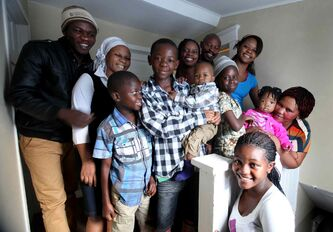 The Bahati family, who fled Congo for Uganda and arrived in Winnipeg last month, are happily settled in their Wolseley home.