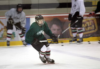 HIgh-scoring sniper Zach Court turns on the jets at a Winnipeg Wild workout Monday at the Iceplex.
