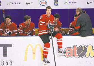 Team Canada centre Boone Jenner will be sitting the first three games.