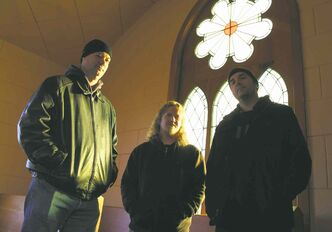 Above, from left, Kevin Stevenson, Matthew Friesen and Michael Klassen.  Right, unseen Swedish partner Daniel Jansson.