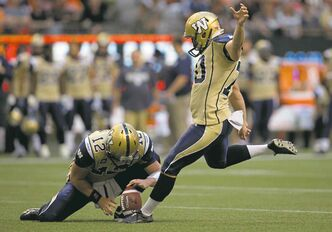 Blue Bombers kicker Lirim Hajrullahu has been shockingly good.