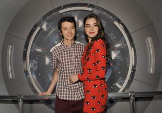 Asa Butterfield, left, with Hailee Steinfeld, hopes Orson Scott Card's views on gay marriage don't mar how audiences judge Ender's Game.