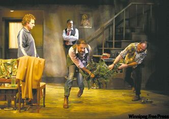 The holiday is less than merry for the four alcoholic Irishmen who spend Christmas Eve together in The Seafarer, opening at MTC Warehouse.