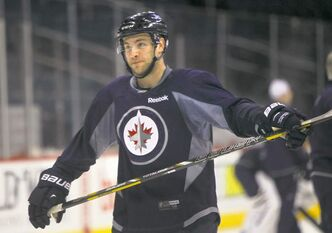 Jets D-man Grant Clitsome was again paired with Zach Bogosian during practice at the MTS Centre on Friday.