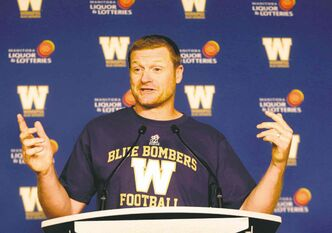 Winnipeg Blue Bombers  Head Coach Mike O'Shea