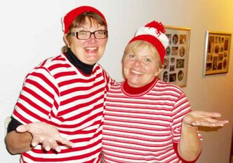 Sisters Tracy Dunstan (left) and Bev Snell are the Madhatters Trivia Masters and are running the Quiz Night in Domain on Nov. 2.