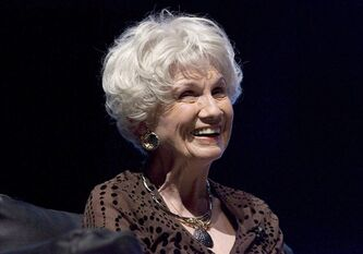 Canadian author Alice Munro is pictured in Toronto on October 21, 2009. Munro will be the toast of the book world Tuesday when her daughter Jenny receives the Nobel Prize in literature on her behalf in Stockholm. THE CANADIAN PRESS/Chris Young