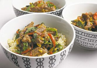 Serve this Thai-flavoured steak stir-fry over steamed rice.