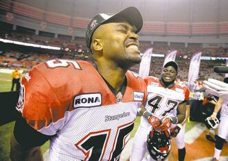 Kevin Glenn can't wait to actually play in the Grey Cup, unlike 2007 when he broke his arm in the East final (right).