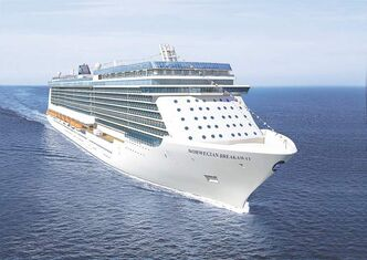 The Norwegian Breakaway will cruise between New York and Bermuda this summer.