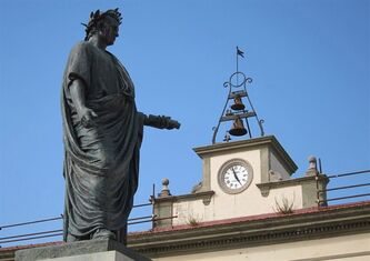 A statue of Horace - Orazio, in Italian - stands in the centre of a square in his hometown of Venosa. The Latin poet, who lived from 65 BC to 8 BC, is much celebrated in the small, southern Italian city. A hotel and a school are named after him, and excerpts from his works are displayed on outdoor wall panels that are lit up after dark. THE CANADIAN PRESS/Mike Fuhrmann