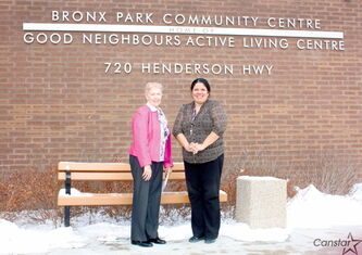 Good Neighbouts Active Living Centre board vice-president Kay Thomson and executive director Susan Sader are shown.