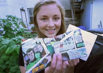 Taylor Rusnak not only got her Star Trek wallet back, but all its contents that scattered when it fell off her car roof.