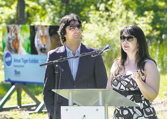 James Cohen and Linda McGarva-Cohen donated $500,000 for an expanded tiger habitat at the Assiniboine Park Zoo.