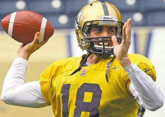 Blue Bombers' new No. 1 Justin Goltz predicts 'some tension there.'