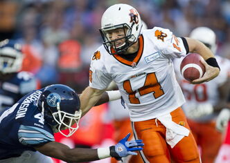 B.C. Lions quarterback Travis Lulay are eager to redeem themselves after their 38-12 loss to Toronto.