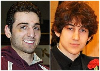 This combination of undated photos shows Tamerlan Tsarnaev, 26, left, and Dzhokhar Tsarnaev, 19. Boston officials said Sunday the two suspects in the Boston marathon bombings appeared to be planning more attacks but likely acted alone, while Republican lawmakers questioned why the FBI hadn't taken a harder look at one of the ethnic Chechen brothers after Russian officials sounded alarm bells about him.(AP Photo/The Lowell Sun & Robin Young)