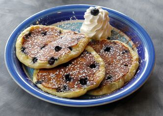 Blueberry pancakes.