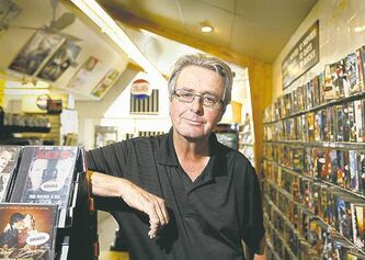 Last man standing: John Tropak owns three Video Cellar stores in WInnipeg.