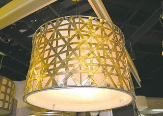 Metal overhead light shades are making a comeback.