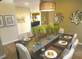 The formal dining room can be used for either entertaining or as a flex space.