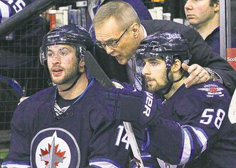 Head coach Paul Maurice has been very active behind the Winnipeg bench since taking over the Jets on Jan. 12.