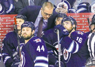 Paul Maurice said there was a lot to like about Michael Frolik's stint at centre.