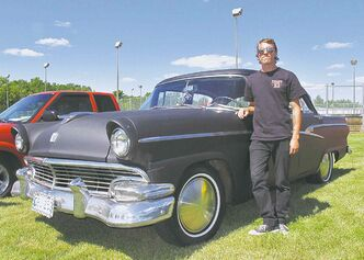 Drew McRae with his 1958 Ford Customline. McRae's car will be on display alongside more than 100 local classic and special interest vehicles this weekend at the MSRA's annual Rondex Rodarama.