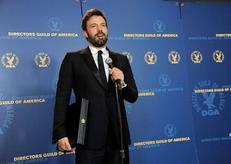 Ben Affleck speaks holding his award for outstanding directorial achievement in feature film for